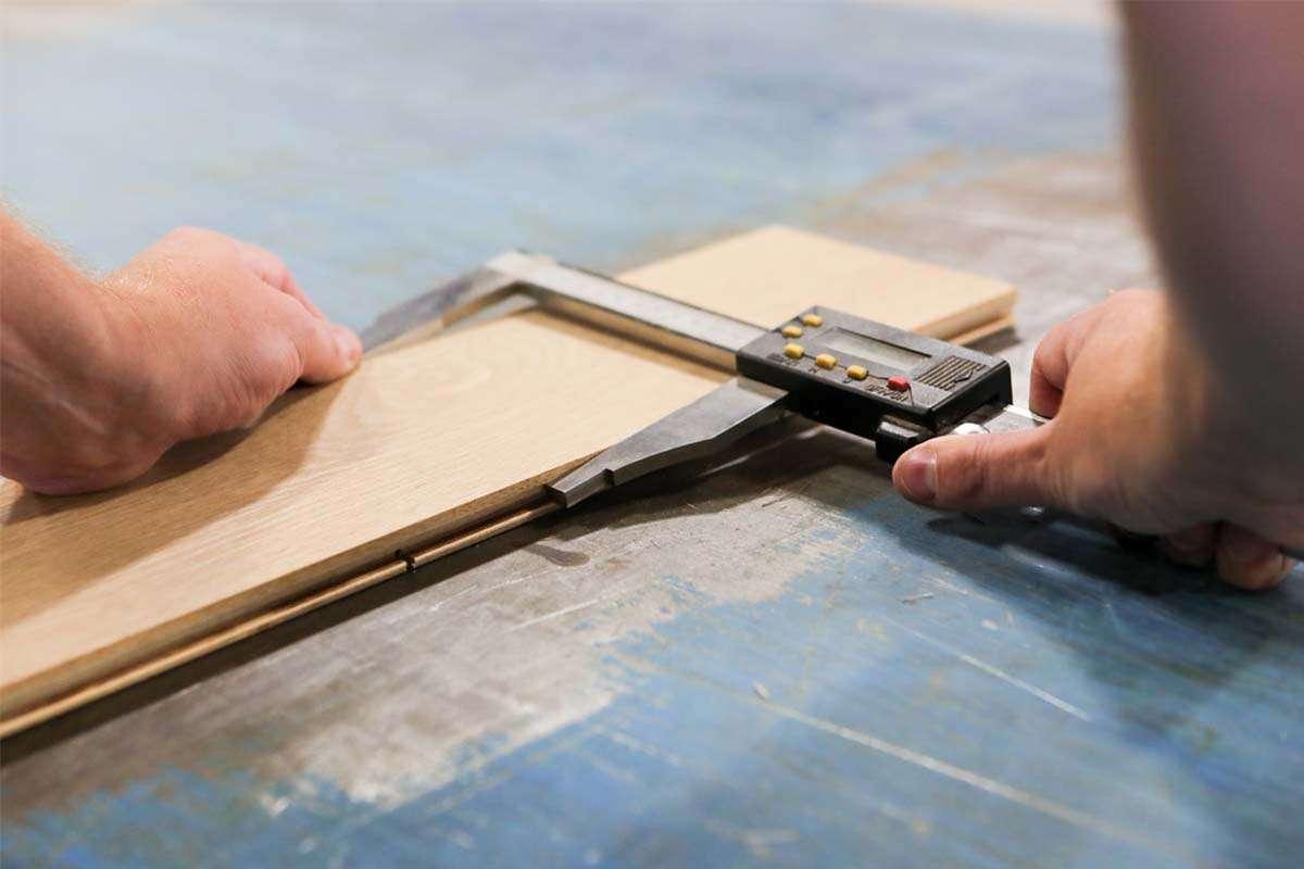 measuring width of wood